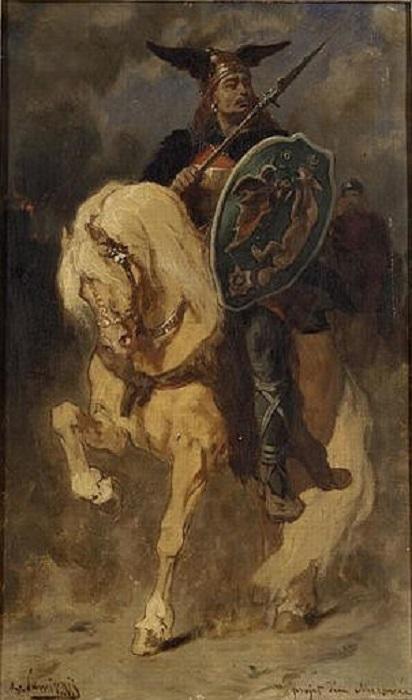 Меровей. Картина Эвариста Виталя Люмине. Музей изобразительных искусств в Ренне